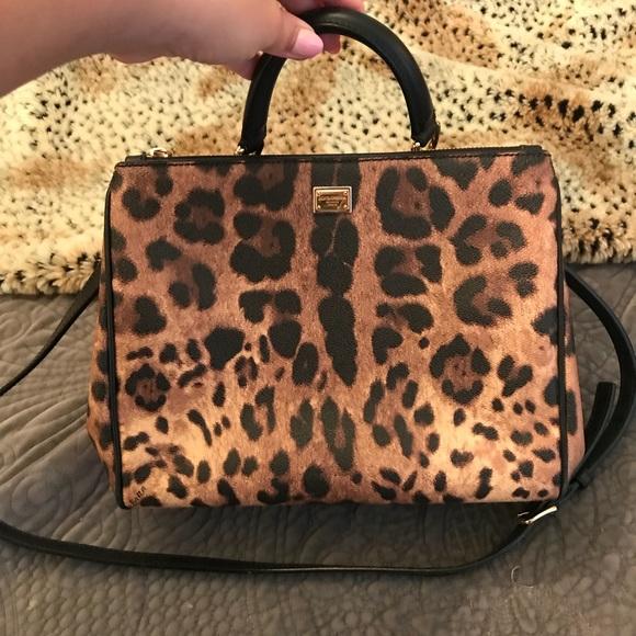 82870f5123b9 Dolce   Gabbana Handbags - Dolce   Gabbana Leopard Sicily Bag